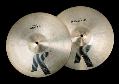 "1982-88 Zildjian EAK 13"" Hi Hat Cymbals : 'Early American K' : 740/1070g"