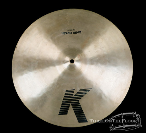 "1982-88 Zildjian EAK 16"" Dark Crash : 'Early American K' Cymbal : 1220g"