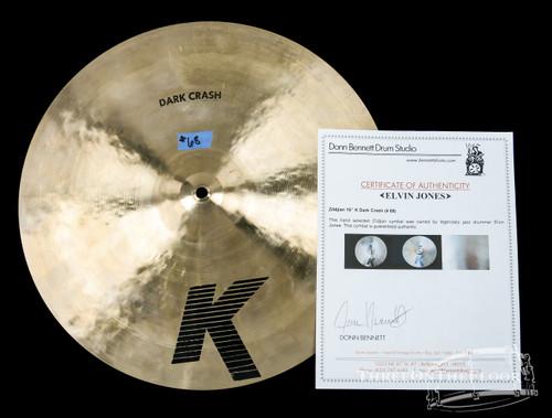 """1982-88 Zildjian EAK 16"""" Dark Crash Cymbal : ELVIN JONES COLLECTION"""