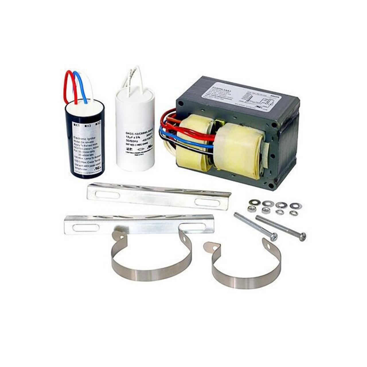 F Howard M0100-71C-512-DK Max ANSI M90 Metal Halide Ballast Power Factor 90 4 Tap 100 Watt Temp Rating 212 Deg Pulse Start Includes Dry Capacitor Ignitor and Bracket Kit