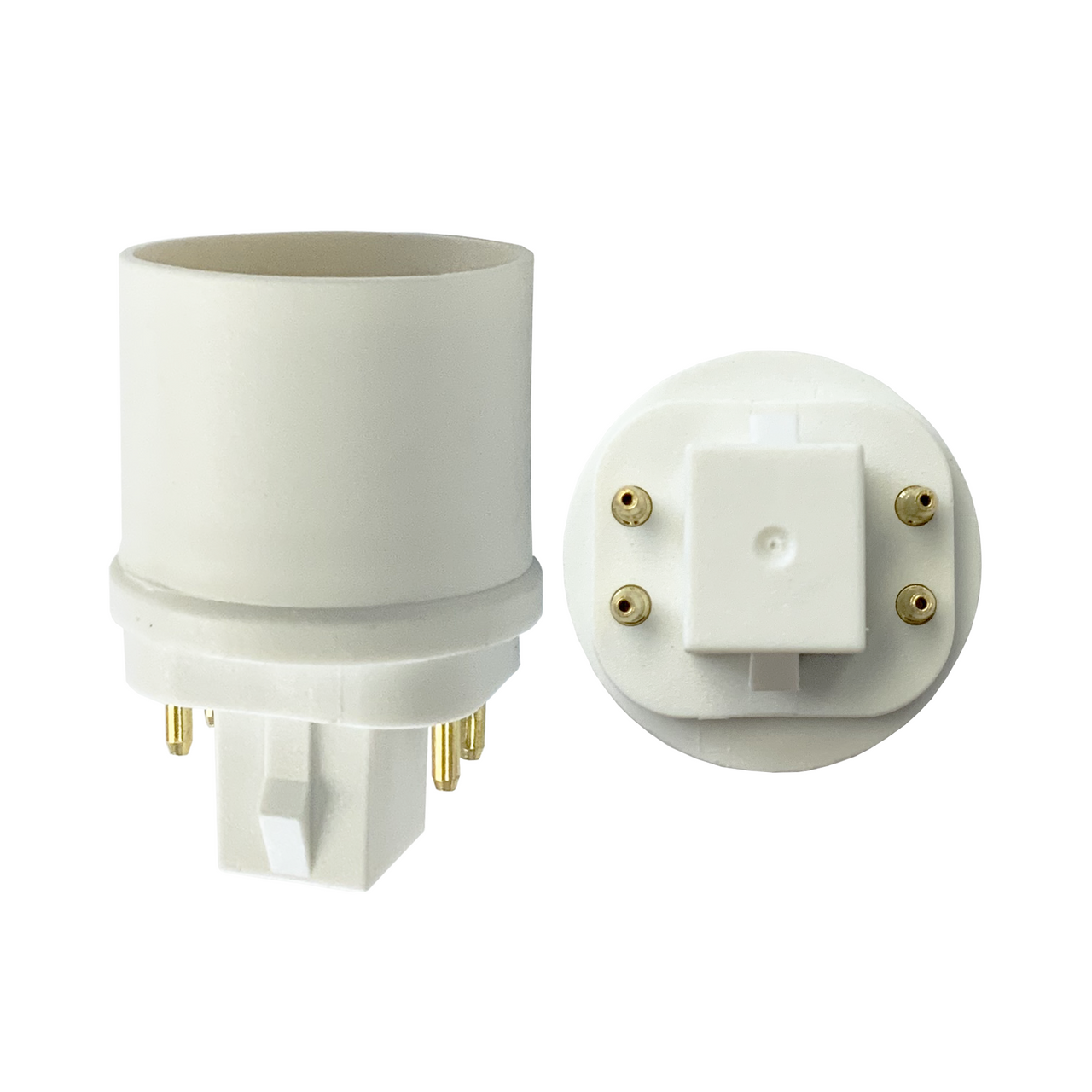 G24 BASE 4 PIN CFL TO MEDIUM E26 SOCKET ADAPTER INDUSTRIAL GRADE G24 BASE 4 PIN CFL ADAPTER