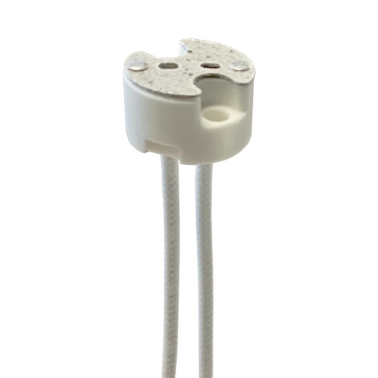 Porcelain Halogen Socket - Mini Bi Pin