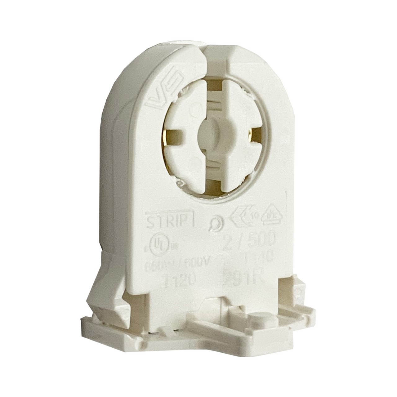 Leviton 23661-SWP Fluorescent Lampholder White