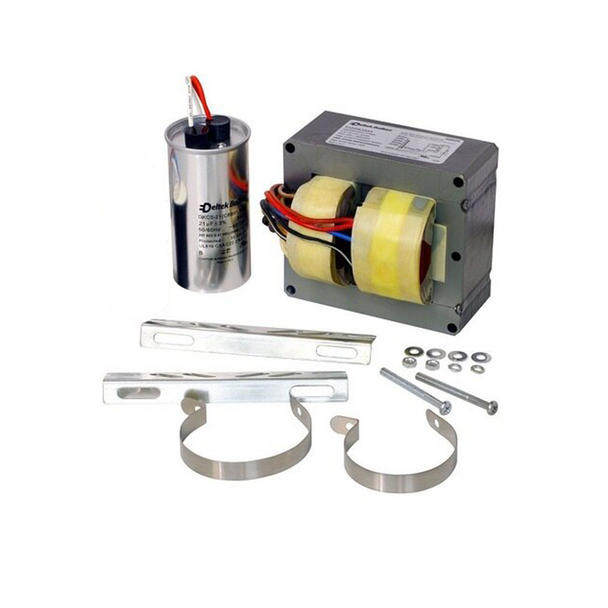 Deltek 87611 - 400 Watt - Metal Halide Ballast  | ANSI M59 - 120-480 Volt -  5-Tap - Includes Capacitor and Bracket Kit