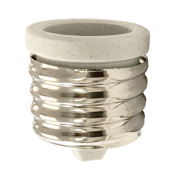 Porcelain Light Socket Reducer   Mogul to Medium Base