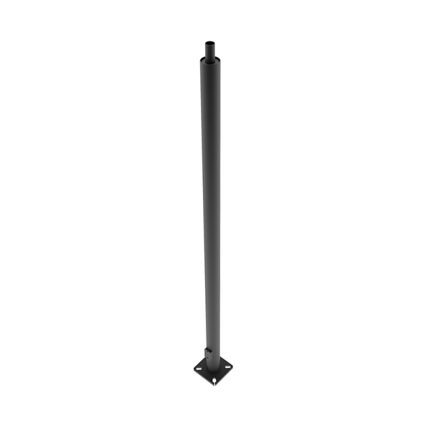 "10 ft. Round Pole - 4"" Shaft   Bronze Finish - 11 Gauge Steel - 8 1/2"" Bolt Circle - Straight Tenon Top - RAB PR4-11-10WT"