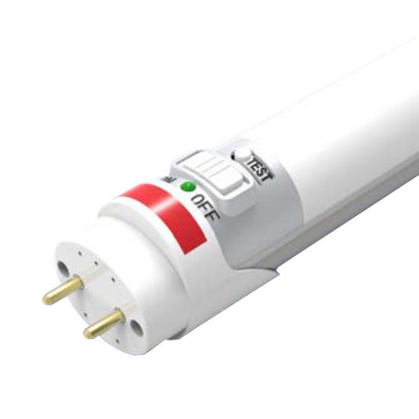 Gen 4 Aleddra 4 ft. T8 LED Tube - 15W - 1800 Lumens - 4000K   Medium Bi-Pin - Ballast Bypass - Emergency Backup - Push Test Button - LED Linear Lamp