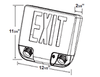iCKXTEU1GAAEM LED Cobination Exit Sign Emergency Lighting Series with Battery Backup Alum. Red Letters