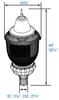 ILPB2P-90-4K 90W LED Pole / Post Top Acorn Light Fixture 90 Watt Premium Style with Fluer de lis finial