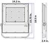 LFLH200-5K-Y 200 Watt High Power LED Indoor \ Outdoor Flood Light, Area Light Fixture, with Yoke Mount DLC Certified