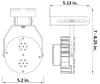 65 Watt LED Retrofit Module with Mounting Bracket 5000K Color Temp. 7150 Lumens HID Replacement