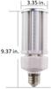 ICEX3940-5K Slim LED Corn Light Bulb, 40 Watt EX39 Base ETL DLC Listed, 5200 lumens Fanless Heatsink Design 5000K