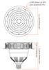 ICYG60-5K 60 Watt High Bay LED Retrofit Bulb,(E26/27) Mogul (E39/40) Base UL DLC Listed 5000K, Direct Wire, HID Replacement