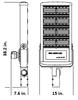 600 Watt 81000 Lumens LED Area Light Fixture with slipfitter mount ,LKHM Parking Lot Light Fixture 3000 Watt MH Equivalent