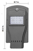 LAS7 7W All-In-One, totally integrated Solar LED Street Light with slipfitter Mount, 1100 Lumens, Type 3 or Type 5 Light Spread