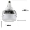 75 Watt High Bay LED Retrofit Bulb,(E26/27) Mogul (E39/40) EX39 Base UL DLC Listed 5000K,  MH Replacement 9500 Lumens