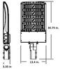 LKHM300-5K-S-HV 480 VAC 300 Watt 40000 Lumens LED Area Light Fixture with slipfitter mount, Parking Lot Light Fixture 1500 Watt MH Equivalent 5000K
