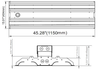 480VAC 150 Watt  10 Year LED Linear High Bay Light Fixture ILLHB Series Fluorescent Replacement 2x4 Ft.
