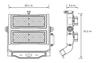 LSLM500-5K-HV 480V 500 Watt LED Flood Light with individually adjustable LED Arrays for Arenas and sports Field Lighting UL DLC