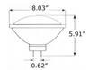 PAR64S-3K LED Par64 Lamp with GX16D Base 3000K Color Temp nondimmable
