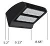 LWPR120-5K-2 120 Watt LED Wall Pack Light Fixture with Adjustable Cut Off Dual Rotational LED Arrays