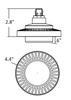 ICFV30-3K 30 Watt Round Type B LED PL light Bulb 140 degree Beam Angle 3000K, 42W CFL Replacement 2500 Lumens