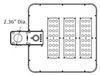 Solar powered Walk way light 3500 Lumens Shoe Box Area light Style 125 Metal halide Equal. post Mount