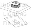 IRK200-3K 200 Watt LED Light Retrofit Module Kit & External Power Supply 3000K Color Temp Yoke Mount Optional