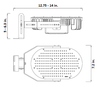 IRK240-4K 240 Watt LED Retrofit Module & External Power Supply Color Temp Yoke Mount Optional 4000K