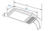 167 Watt  LED Area Light Fixture ,LKH Style Standard Shoebox Fixture Replacement, DLC Certified 600 Watt MH Replacement