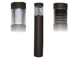 Round Post Bollard Lighting - Flat Top - LED
