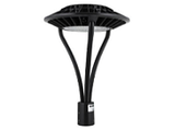 Halo Style LED Post Top Light Fixtures - DLC, ETL