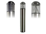 Stainless Steel Post Bollard - Round Dome Top LED