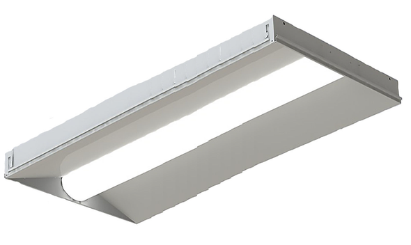 ILUX Series LED Troffer Light Fixture 2x4 ft. 50 watt 5000k DLC Certified Grid Ceiling Light