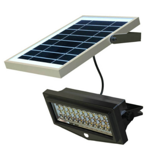 LGF-1000-P Solar Powered Flood Light Fixture 1000 Lumens Wall Mount Programmable