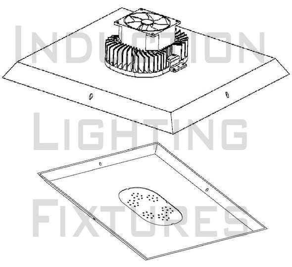 240 Watt LED Retrofit Module & 480 vac External LED Driver 5000K Optional Yoke Mount