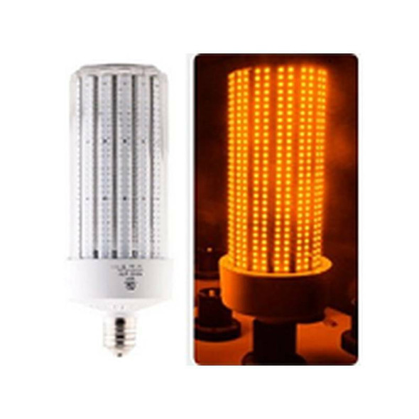IC120-AMBER 120 Watt Sea Turtle Friendly Corn Light, LED Replacement, 360 Degree Beam Angle Mogul (E39/40) Base Amber Color