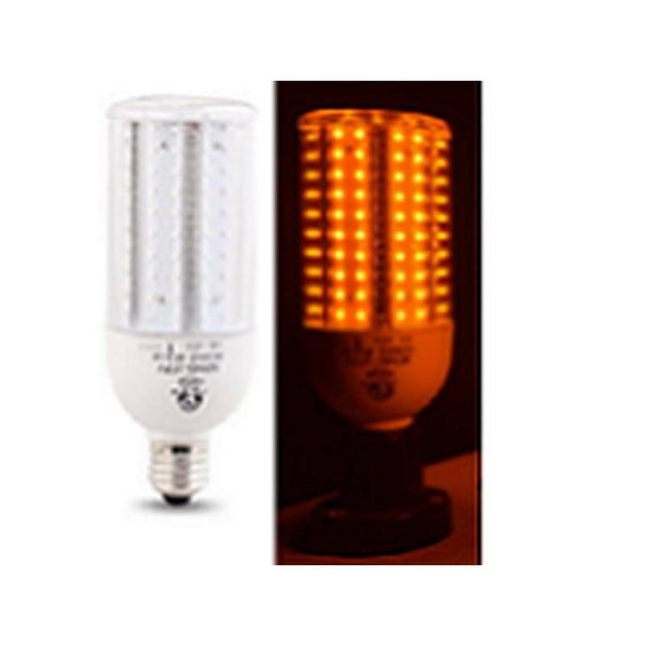 ICM15-AMBER 15 Watt Sea Turtle Friendly Corn Light LED Replacement Medium (E26/27) Base,  E39 Adapter Amber Color