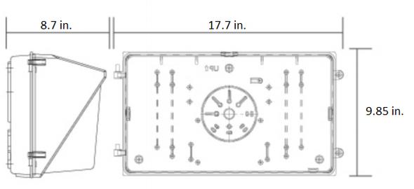LWP150-5K 150 Watt LWP Series Classic Style LED Wall Pack UL,  DLC Certified Exterior lighting