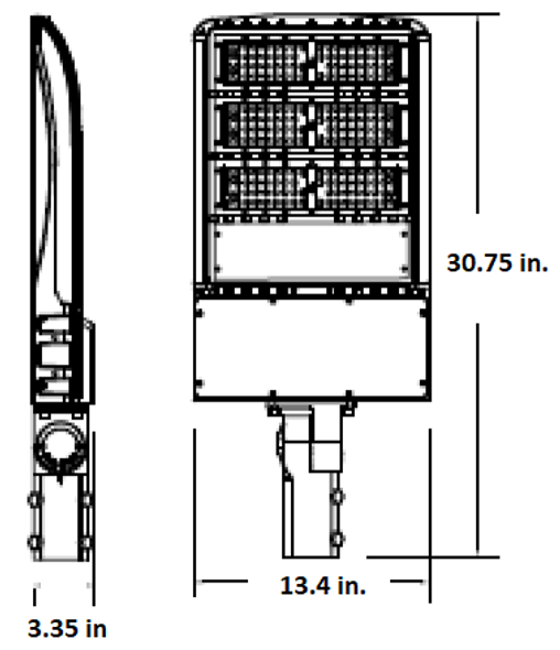 LKHM185-5K-S 185 Watt, 26000 Lumens LED Area Light Fixture with slipfitter mount, LKHM Parking Lot Light Fixture 800 Watt MH Equivalent 5000K