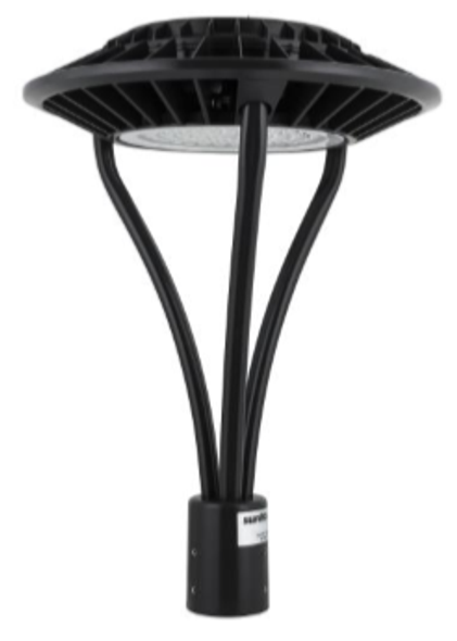 LED Post  Light Fixture 80 Watt Halo Style with Acrylic Lens 8800 Lumens ETL, DLC