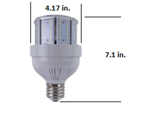Stubby 65 Watt LED Metal Halide Replacement, Compact Design 9100 Lumen Output (E39/40) Base ETL Listed 5000K DLC