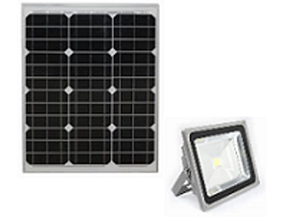 LGF-2700 Solar Powered Flood Light Fixture 2700 Lumens Wall Mount Area light