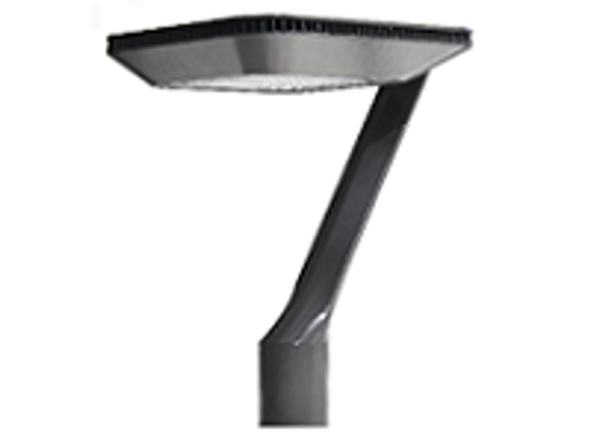 Deco Style LED Post Top Light Fixture 75 Watt Artistic Style with Acrylic Lens 9500 Lumens UL DLC Dark Skies Full Cutoff