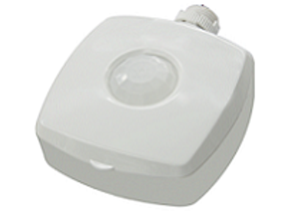 Motion Sensor 120V to 277V for light fixtures LED Compatible PIR Sensor. 1/2 npt. selector swith setup