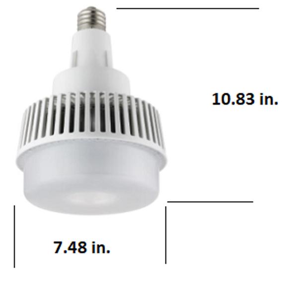 ICYG120-5K 120 Watt High Bay LED Retrofit Bulb, (E26/27) Mogul (E39/40) EX39 Base UL DLC Listed 5000K, MH Replacement 14400 Lumens