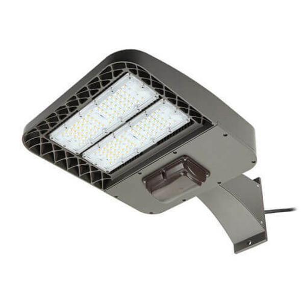 LKHC60-5K-A-480V 60 Watt Shoebox Light Fixture, LED Parking Lot Light Fixture 250 Watt MH Replacement Arm Mount DLC