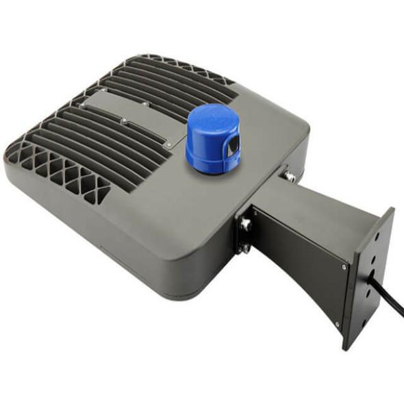 LKHC150-5K-A-480V 150 Watt Shoebox Light Fixture, LED Parking Lot Light Fixture 600 Watt MH Replacement Arm Mount DLC Certified