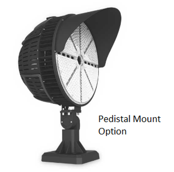 480 Volt 600 Watt LED Stadium Spot Light for Atheltic fields and sports arenas. High Power LED Array UL DLC