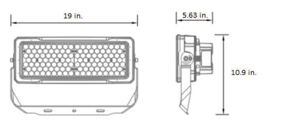 LSLM Series 250 Watt LED Flood Light with individually adjustable LED Arrays for Arenas and sports Field Lighting.  UL DLC
